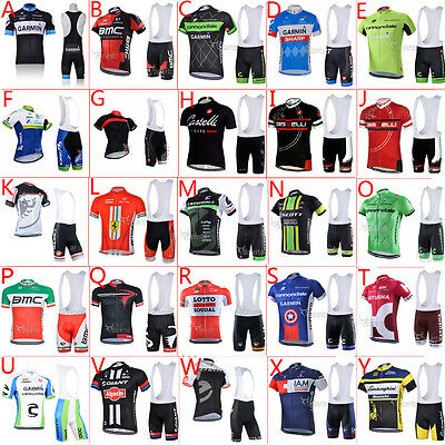 2016 New cycling jersey and bib shorts Full Zipper Race Fit GEL padded 16 Style