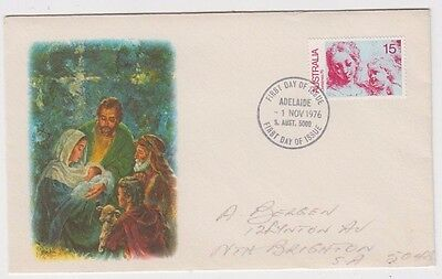 Stamp Australia 1976 Christmas 15c issue on Bergen limited edition FDC, uncommon