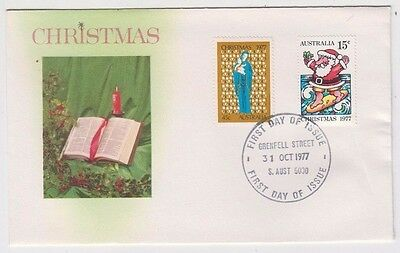 Stamps Australia 1977 Christmas pair on Bergen cachet limited edition FDC scarce