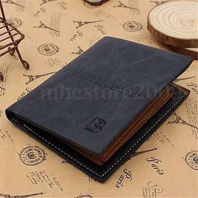 New Men's Luxury Genuine Leather Bifold Wallets Credit Id Card Holder Purse Gift