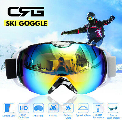 Adult Colorful Outdoor Snowboard Ski Goggle Anti-Fog UV Double Lens Sunglasses