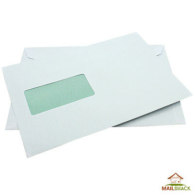 White C5 Envelopes 100% RECYCLED 90gsm PREMIUM Gummed Seal Window HIGH QUALITY