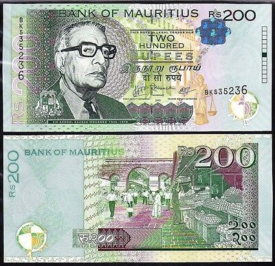Mauritius 200 Rupees 2010 Uncirculated