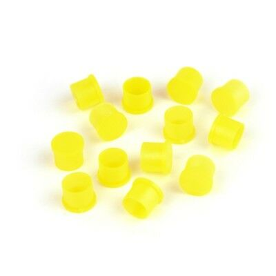 100x Plastic Covers Dustproof Yellow Dust Cap for SMA RP-SMA Female RF Connector