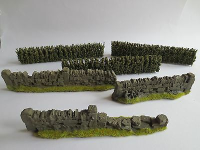 warhammer LOTR Scenery Terrain 3 Walls and 3 Hedges G001