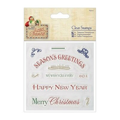 Greetings - Docraft's Letter To Santa Collection - Clear Stamp