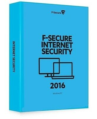 F-Secure Internet Security 2016 5 PC's 1 Year Windows Download