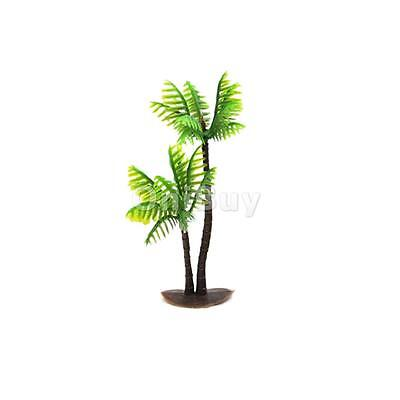 Plantes Green Coconut Arbres artificiels en plastique Aquarium Ornement