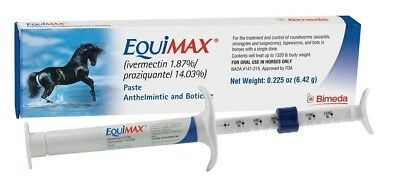 Equimax Horse Wormer  Ivermectin Praziquantel 12 Tubes save