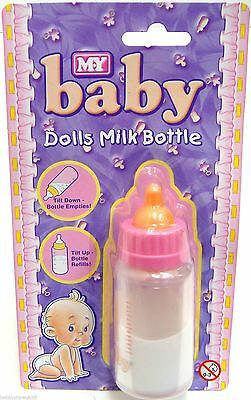 Doll Magic Disapearing Milk Feeding Bottle Born Baby Dolls Girl Pretend Play Toy