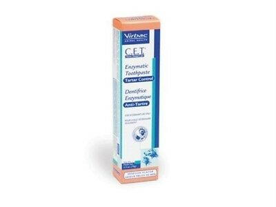 CET Virbac Enzymatic Dog Cat Toothpaste Seafood 2.5oz/70G Control Plaque Tartar