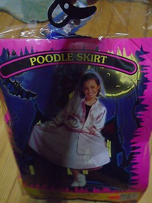 Child Large Halloween Costume Purple Poodle Skirt also a scarve thrown in