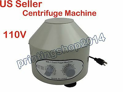 110V Electric Centrifuge Machine 800-1 Lab Medical Practice 4000rmp 20ml x 6
