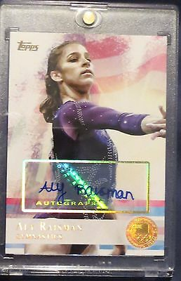 ALY RAISMAN Autograph Topps Olympic GOLD Auto 15 Final 5 SI Swimsuit ESPN Body
