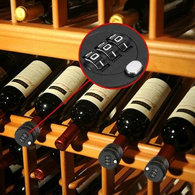 Fashion Digit Bottle Password Lock Combination Lock Wine Stopper For Security