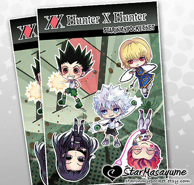 Hunter x Hunter Anime Chibi Vinyl Stickers Sheet