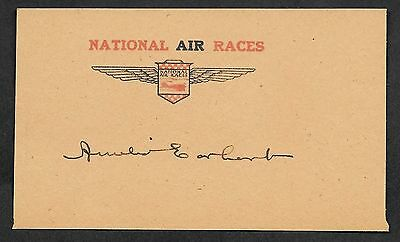 Amelia Earhart Autograph Reprint On Genuine Original Period 1920s 3X5 Card