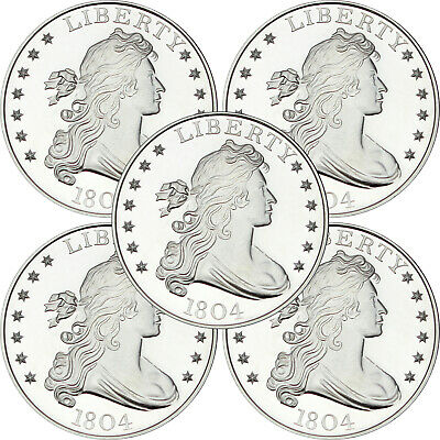 1804 ($1) 1oz .999 Silver Medallion by SilverTowne (5pc)