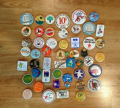 VARIOUS  ** Buttons & Pins / Macarons ** LOT #10 of 50x ** Vintage **