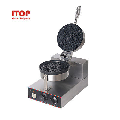 Commercial Nonstick 220v Electric Rotating Round Standard Waffle Maker Iron