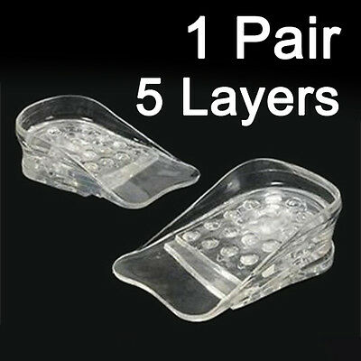 Height  Increasing Insoles Discreet Adjustable Silicone Gel Heel Lifts 5 Layers