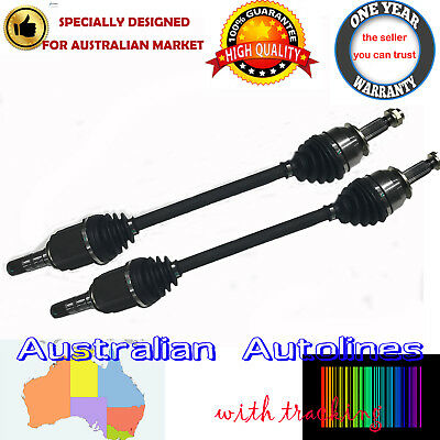 2 New CV Joint Drive Shafts for Subaru Liberty 4CYL only 9/03-8/09 ABS in Hub