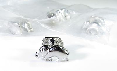 Elephant Shirt Button Studs in Silver Tone