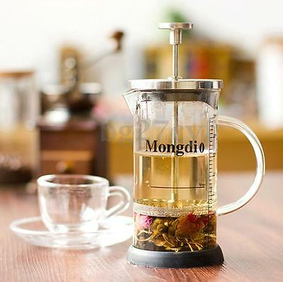 Stainless Steel Kitchen Coffee Cup flower Tea Maker Cafetiere Filter Press Pot