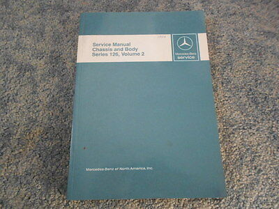 1984 Mercedes Benz Series 126 Chassis Body Factory Service Manual Volume 2 Oem