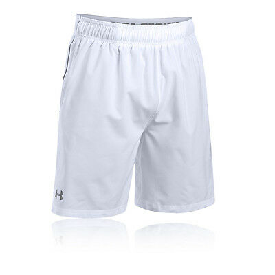 Under Armour HeatGear Mirage 8 Inch Mens White Running Shorts Pants Bottoms