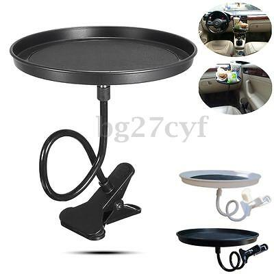 Car Clip Swivel Mount Holder Travel Drink Cup Bottle Food Tray Table Stand Desk