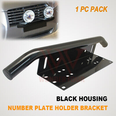 Number Plate Bullbar Frame Mounting Clamp Bracket Holder Led Spot Work Light Bar