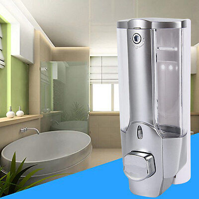 350ml NEW Wall Mount Soap Sanitizer Bathroom Shower Shampoo Dispenser Home SAU