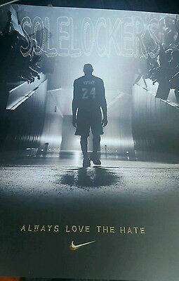 sale retailer 57043 9a568 Nike Kobe Bryant Always Love the Hate Poster MAMBA DAY FADE TO BLACK