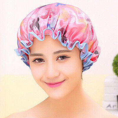 1PC Shower Cap Waterproof Printing Elastic Caps Bathroom Salon Hair Drying Hat
