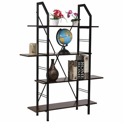 4 Layers Wooden Bookshelf Storage Organizer Display Home Office Furniture New