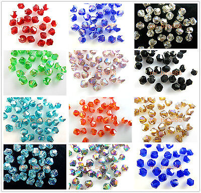 Wholesale 200pcs 4mm Faceted Crystal Glass 5301 Bicone Loose Spacer Beads Charms