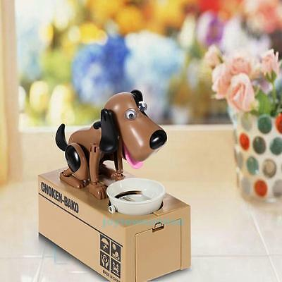 New Cute Stealing Coin Money Saving Box Dog Piggy Bank Storage Christmas Gift