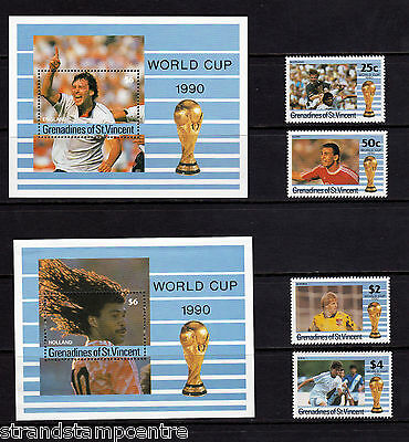 St Vincent (Grenadines) - 1990 World Cup (2nd Issue) - UM - SG 680-3 + MS684 (2)