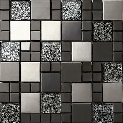 Mosaic Tiles Hong Kong Mix Glass Metal Foil Bathroom Kitchen Choice MT0002
