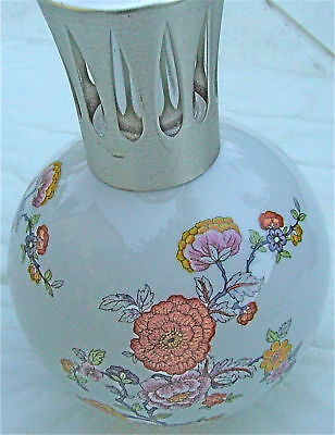 Belle Lampe Berger Faience Decor De Fleur Cp Limoges
