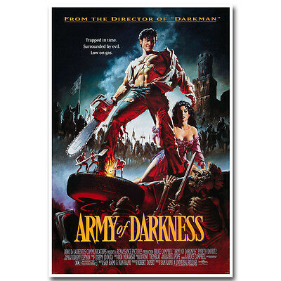 Army of Darkness Movie Poster 12X18 24X36 inch Silk Fabric Print