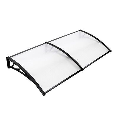 NEW 100 x 200cm DIY Window Door Canopy Window Awning Balcony Cover - Transparent