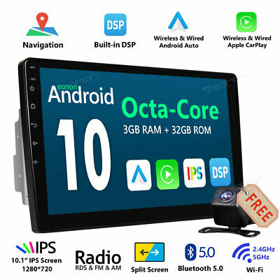 "Camera Android 5.1 Double 2 Din 7"" Car Stereo GPS Navigation Bluetooth WiFi 3G E"