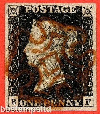 "SG. 2. A1 (2). AS23. "" BF "". 1d black. Plate 4. A very fine used example."
