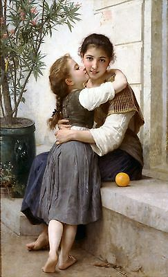Young Shepherdess 1885 by William Bouguereau Old Masters A4 Reprint 34