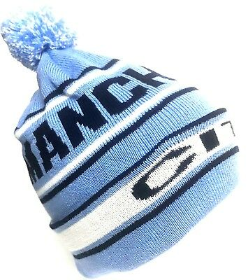 Manchester City Hat Pom Pom Sky Blue Bobble Hat Football Gifts