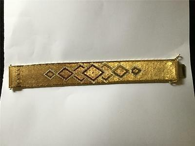 Wonderful Heavy solid Gold 18ct  Bracelet  weight 74.2 gms (three colour gold)