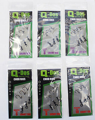 Q - Dos Chod Rigs Barbless Size 8 Carp Fishing Hooks / Course Fishing 1 Pk Of 3