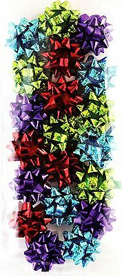 20 Mini Contemporary Foil Metallic Gift Bow Decor Christmas Festive Birthday